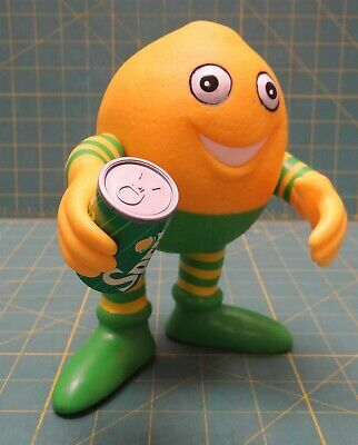 "Sprite Lucky Lymon Vinyl Figure 7"" Vintage Advertising 1990"