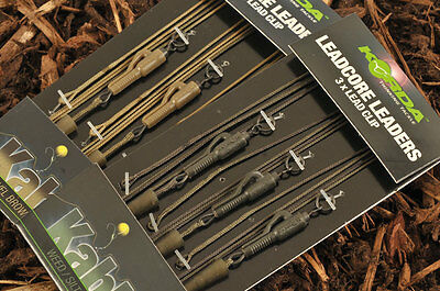 Korda NEW Kable Ready Tied Lead-Core Carp Fishing Leaders 3 Leaders Per Pack