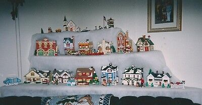 Snow Village Department 56- 13 Houses and Accesories- most in original boxes