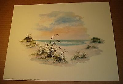 Lot of 100 Laura Robinson Werner Florida Artist Litho Seascape Decor unframed