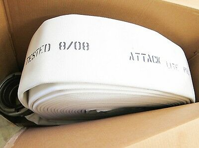 """New FireQuip 5"""" X 100ft 600lbs Attack Lite Poly Fire Hose"""