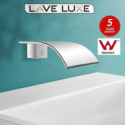 Basin vanity waterfall wall bath spout spa faucet tap Chrome brass Watermark