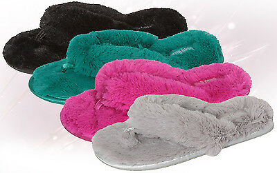 Wholesale Lot of 36prs WOMENS PLUSH SLIPPER WITH PLUSH THONG, Only $3.50