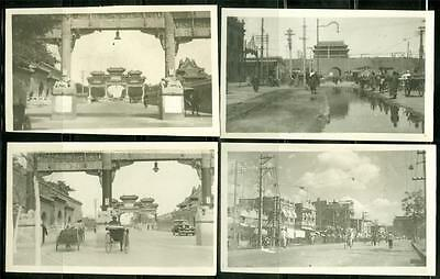 China Peiping (Peking) 1930's B/W Real Photo Souvenir The Street And Market