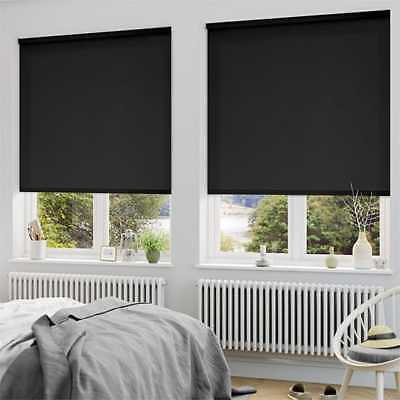 Commercial Quality Blockout 100% Blackout Roller Blinds 60~210cmW 210/280cmD