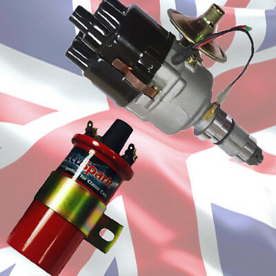 Mini 59D A+ Stealth Electronic ignition Distributor + Sports RED Coil