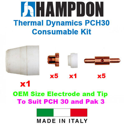 Thermal Dynamics Style PCH30 – Pak 3 – OEM Size Consumable Kit – 12 Piece