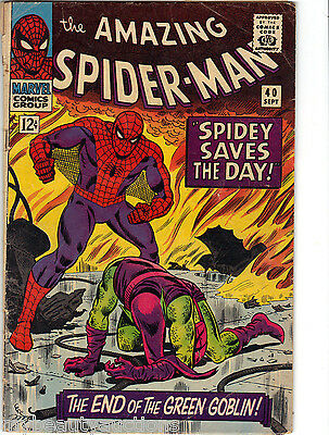 Marvel Comics The Amazing Spider-Man Vol. 1 # 40. Sept, 1966. Very Good / Fine.