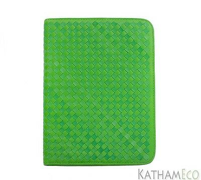 NEW Handmade Leather Portfolio in Green by Art of Heritage
