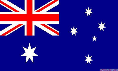 "AUSTRALIA BUDGET FLAG small 9""x6"" GREAT FOR CRAFTS AUSTRALIAN"