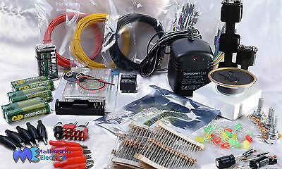 Make Electronics circuits with our components KIT 1 + KIT 2 parts packs