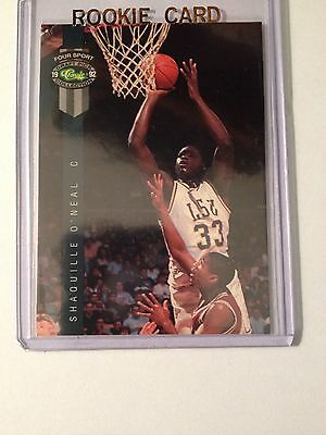 1992 Classic Four Sport #1 Shaquille O'Neal RC Mint
