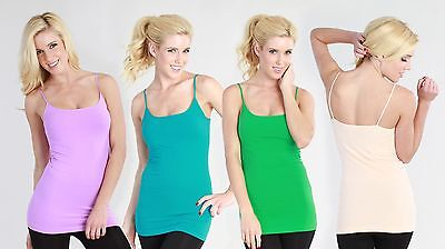 Nikibiki Long Camisole soft hand and super stretchiness Many Colors Available