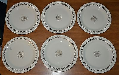 Lot of 6 Edwin M Knowles China Co Dinner Plate 22 Karat Gold Take A Look!