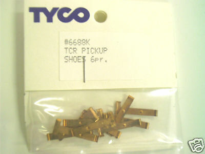 6 Pair Tyco TCR Slotless  Pickup Shoes