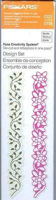 Fiskars FUSE CREATIVITY SYSTEM DESIGN BORDERS SET DIE-CUT AND LETTERPRESS Vines