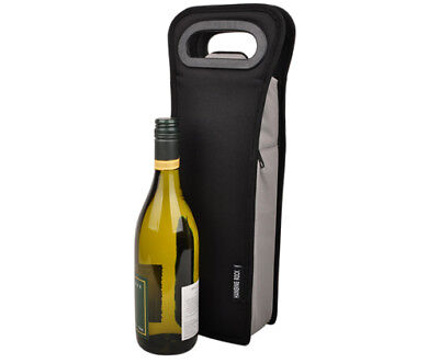 1 bottle cooler bag | Wine Gift Bag | Insulated | Single Bottle | BYO | Black