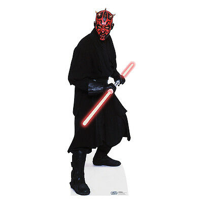 DARTH MAUL Star Wars Ray Park Lifesize CARDBOARD CUTOUT Standup Standee Poster