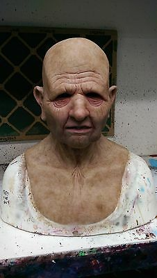 Realistic Grandfather - Old man Silicone Mask! Made by Shattered FX