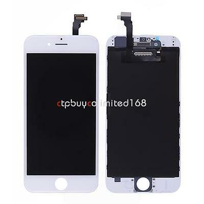 White LCD Display Touch Screen Digitizer Assembly Frame For iPhone 6 4.7''