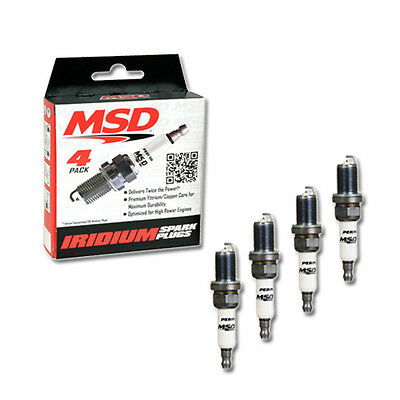 MSD Set of 4 Ignition Iridium Spark Plug 7 IR5Y, thread 14mm PN:37254