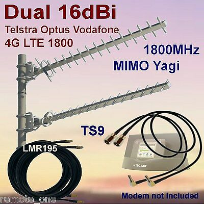 Dual 16dBi 4G MIMO 1800MHz Yagi Antenna Kit for Cradle 78xS 2xCoax 2xTS9 Patch