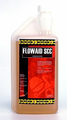 1 Litre Concrete Super Plasticiser:  water reducing Flowaid SCC superplasticizer