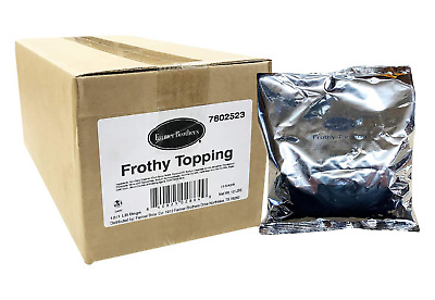 Frothy Cappuccino Topping 12 X 1 Lb Bags  Powder Milk Topping.creamer Mix  2524
