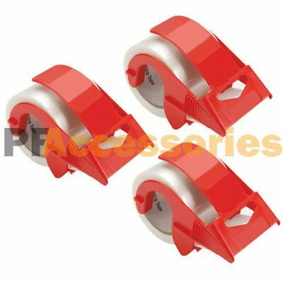 "3x 2"" Packing Tape Hand Dispenser for House Moving Shipping Box + Packaging Tape"