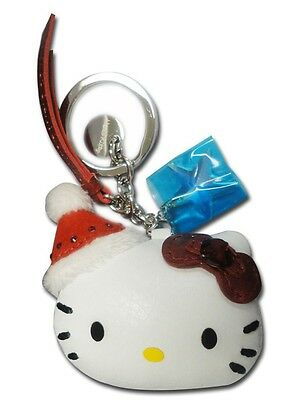 Sanrio Hello Kitty Swarovski Red Holiday Santa Keychain NEW In Box