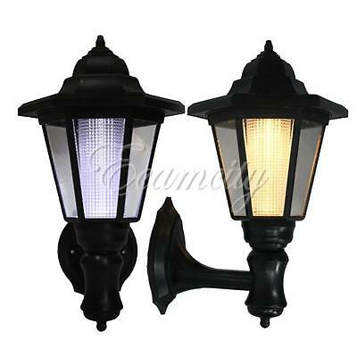 Solar Powered LED Outdoor Garden Yard Security Wall Light Landscape Lamp New