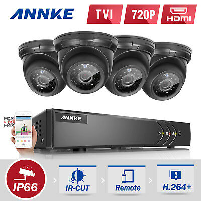 ANNKE CCTV 8CH 1080N DVR HDMI Dome 720P Surveillance Security Camera TVI System