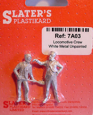 Slaters 7A03 - 7mm - White Metal Locomotive Crew Un-Painted New Pack UK 1st Post