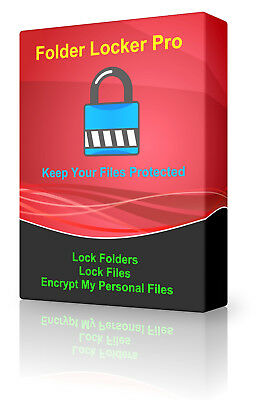 Encryption Password Protected Lock Secure Data Folder/File Unreachable Software