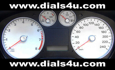 FORD FOCUS Mk2 (2004-2007) Pre Face Lift - 240km/h - WHITE DIAL KIT