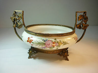 Meissen Pfeiffer Hand Painted Dish with Ormolu Mounts Exquiste Rare 1924 - 34