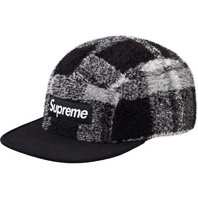 b1530f4d SUPREME PLAID LINEN Camp Cap Black Box Logo camp floral safari pcl S ...