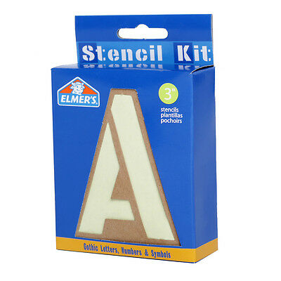"Elmer's 3"" Reusable Gothic Letters, Numbers & Symbols Stencil Kit"