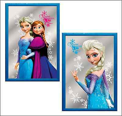 Brand New Girls Childrens Official Frozen Anna And Elsa Framed Mirror Decoration