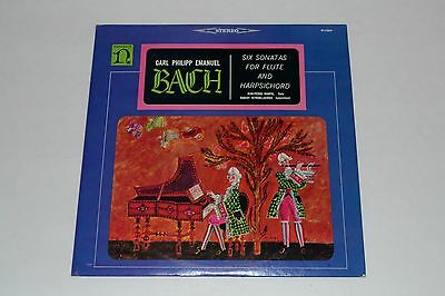 Carl Philipp Emanuel Bach - Six Sonatas For Flute And Harpsichord FAST SHIPPING!