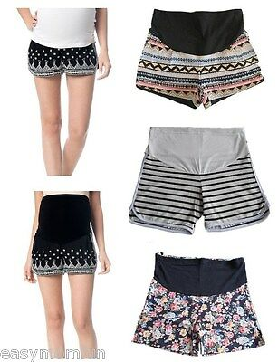 Maternity shorts,summer beach maternity dress,short trousers,short pants,floral