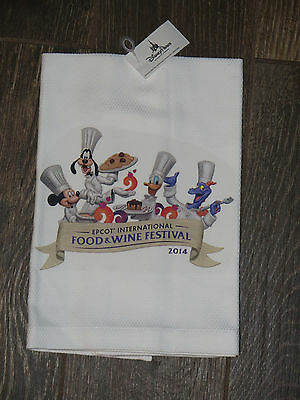 NEW Disney Epcot 2014 International Food & Wine Festival Kitchen Towel Rag