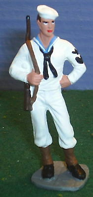 TOY SOLDIERS METAL AMERICAN WWII US NAVY PETTY OFFICER 60MM