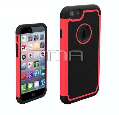 Fits iPhone 6 6S Case Shockproof Rugged Impact Hybrid Armor Hard Cover - Pink