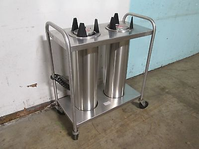 """""""AMF 53-00"""" H.D. COMMERCIAL S.S.HEATED 5½"""" DUAL PLATE/BOWL DISPENSER/CART/HOLDER"""
