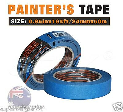 ROLLINGDOG 0.95 IN X 164 FT / 24MM X 50M Blue PAINTER'S TAPE MULTI-USE 80022