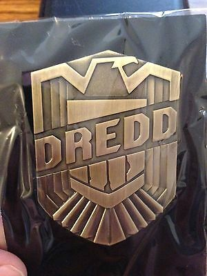 JUDGE DREDD OFFICIAL MOVIE PROMOTIONAL METAL BADGE FULL SIZE SDCC 2012 RARE NEW!