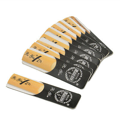 10pcs Classic Alto Sax Reeds Reed For Riyin 2.5 Strength Xmas Gift Traditional