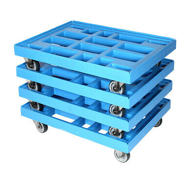Transportroller 810x610 mm hellblau 4er Pack
