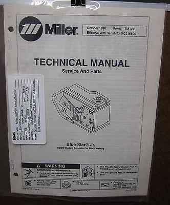 Miller Electric Technical Manual TM-438 Blue Star Jr.